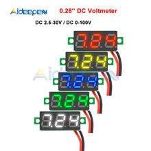 Mini Module d'affichage numérique, 0.28 pouces, rouge, bleu, voltmètre, testeur de tension, panneau de jauge, moto, voiture
