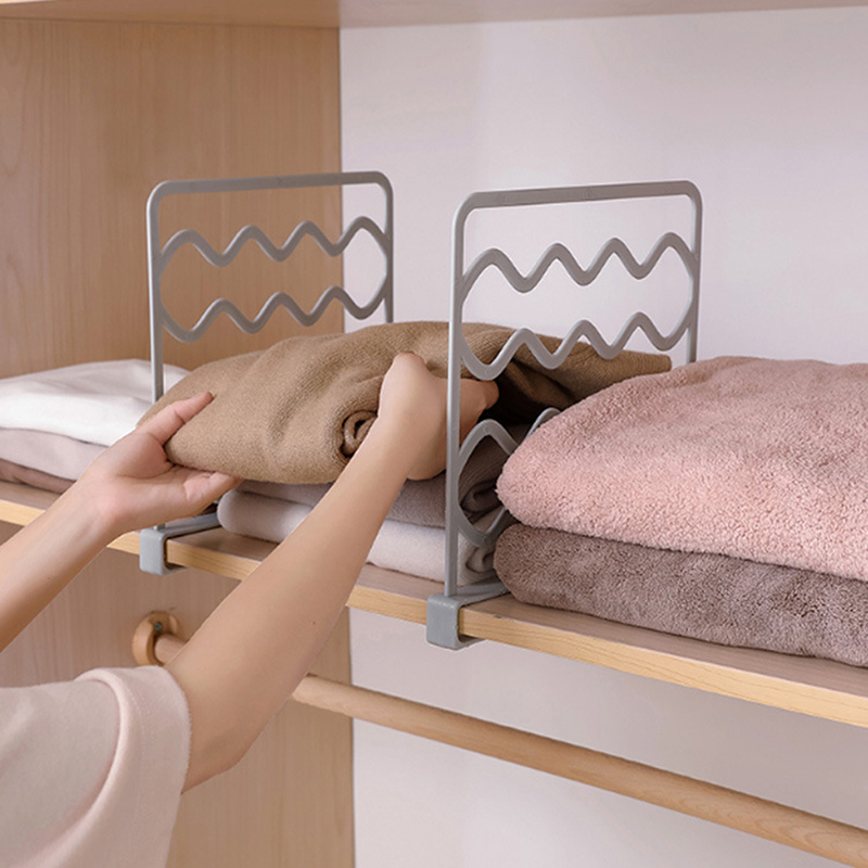 Creative Wardrobe Cabinet Clothes Partition Storage Holders Organizer Separator Shelves Closet Garment Divider Storage Organizer