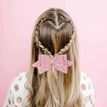 5 шт Детские блестящие заколки для волос с бантом