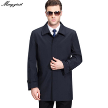 2020 Spring Men Cotton Business Casual Coats Autmn Middle-aged Father Turn-down Single-breasted Windbreaker Overcoat jacket 4XL