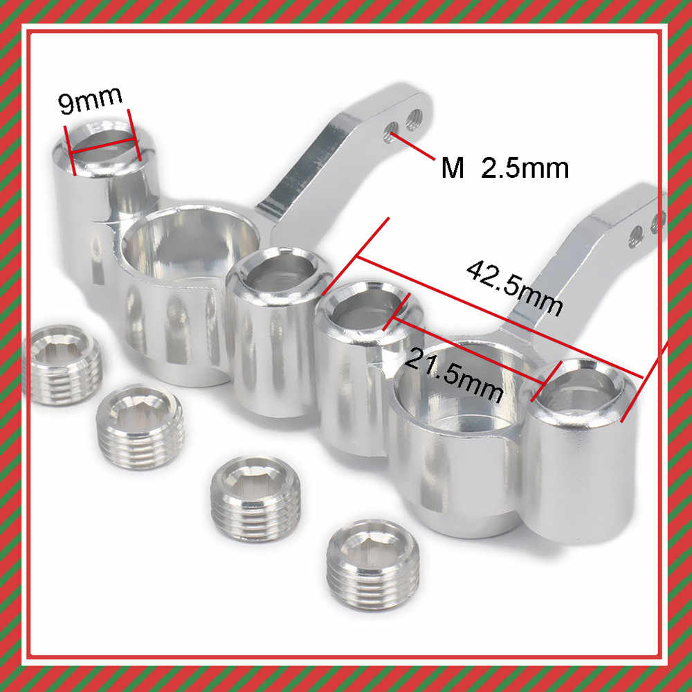 Aluminium Steering Hub Carrier (l/r) knuckles 511484 Voor Rc Hobby Model Auto 1/10 FS Racing Truck Buggy 53810 Verbeterde Hop-Up Onderdelen