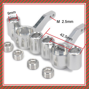 Aluminum Steering Hub Carrier(l/r) Knuckles 511484 For Rc Hobby Model Car 1/10 FS Racing Truck Buggy 53810 Upgraded Hop-Up Parts(China)
