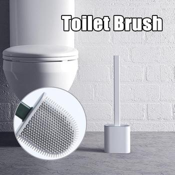 TPR Silicone Toilet Brush Floor-standing Wall-mounted Base Cleaning Brush For Toilet WC Bathroom Accessories Set household Items tpr silicone toilet brush and toilet quick drain cleaning brush tool household toilet bathroom accessories set
