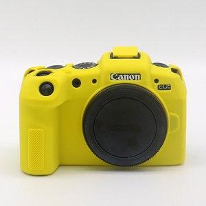 Image 3 - Silikonowe lustrzanka cyfrowa obudowa pokrowiec torba dla Canon EOS R6 R5 R RP M50 80D G7X III kamery cyfrowe