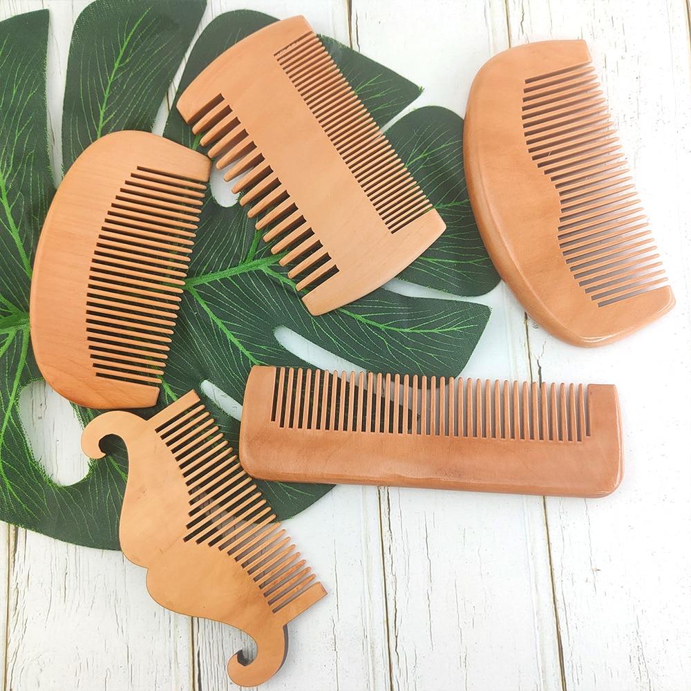 Расческа для волос и бороды (5 вариантов) из грушевого дерева