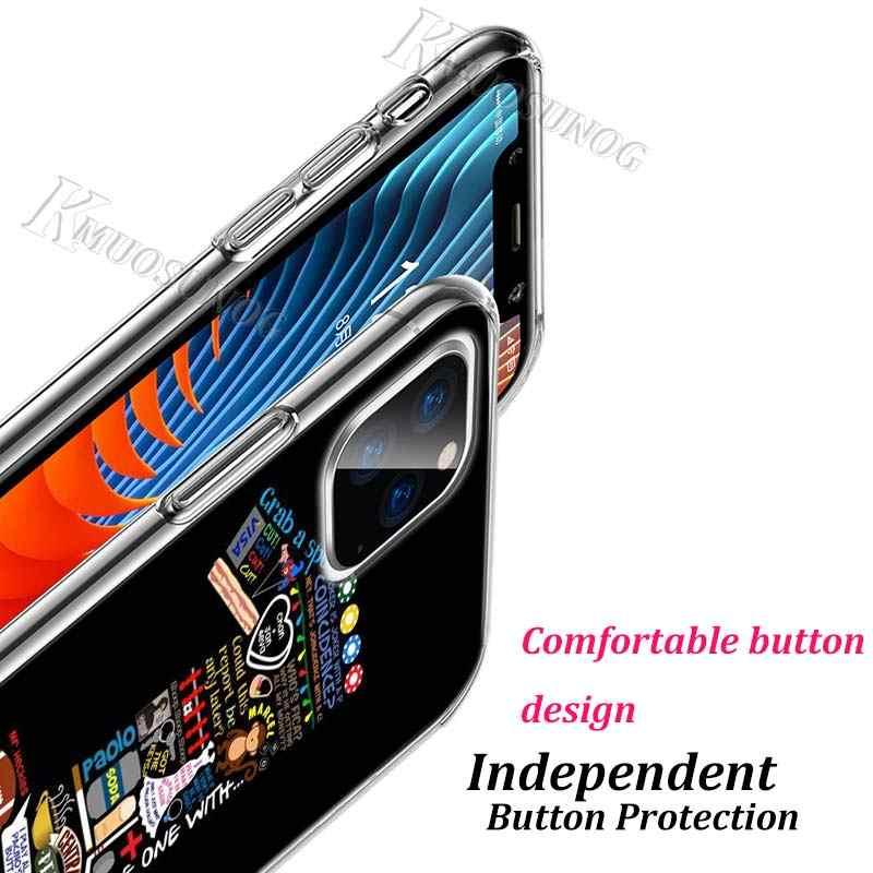 Trong Suốt Trong Suốt TPU Cover Bạn Bè Tivi Cửa Cho Iphone 11 11Pro XS Max XR X 8 7 6S 6 plus 5S Ốp Lưng Điện Thoại
