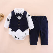 3pcs Infant Baby Clothing Autumn And winter Rompers suit Baby Boys Gentleman Long Pants Set Baby Infant Clothes 3pcs baby clothes set gentleman baby boy rompers boys rompers cotton sets