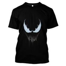 LBG3d printing 2019 new mens T-shirt summer fashion venom short-sleeved round neck casual hip-hop top
