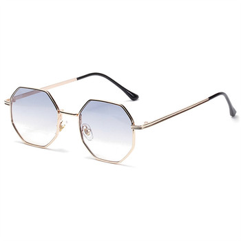 Higodoy Polygon Sunglasses Men Vintage Octagon Metal Sunglasses for Women Luxury Brand Goggle Sun Glasses Ladies Gafas De Sol 9