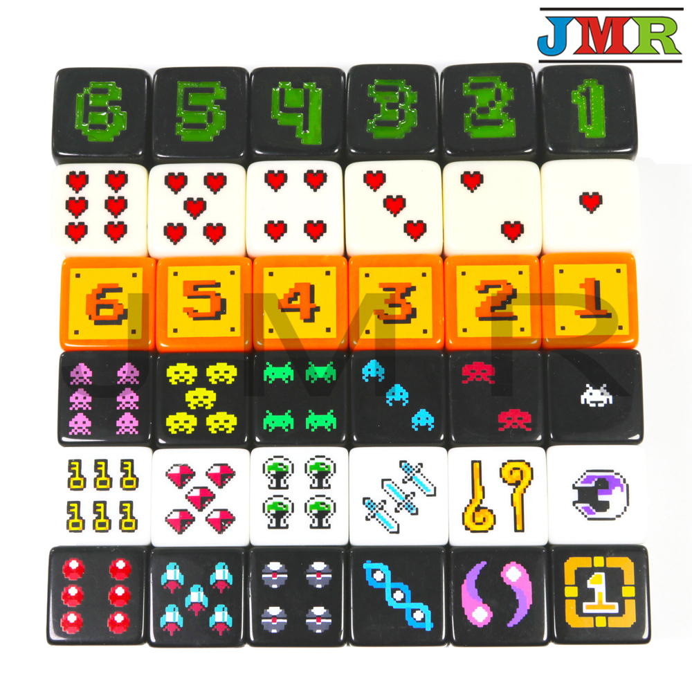 Brand New! 18mm Digital D6 Dice Set 6pcs/set, Plastic 6 Sided Cube For Poker Card Game/Education Gambling,Board Game