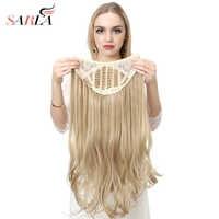 """SARLA 24 """"u-part synthétique Extension de cheveux Clip en Long épais bouclés naturel Blonde Flase cheveux postiches pour les femmes résistant à la chaleur"""