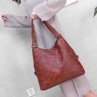 Moda feminina bolsas de alta qualidade feminino hobos sacos ombro único couro cor pura saco do mensageiro grande totes dropshipping