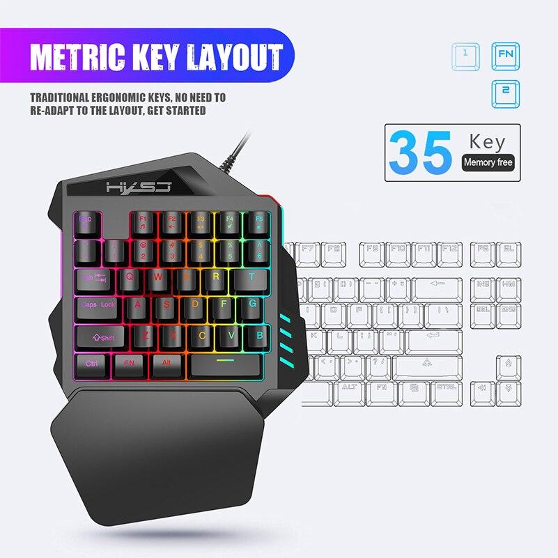 Проводная игровая клавиатура с rgb подсветкой 35 клавиш для