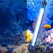 УФ-лампа для стерилизации аквариум подводный обеззараживания воды аквариумный светильник EU Plug 220V аквариума декором, послужит прекрасным подарком