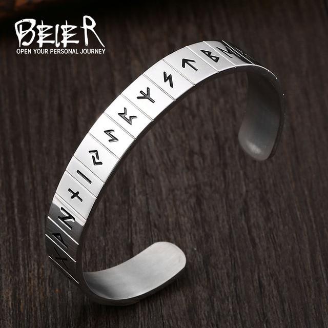 Bracelet acier inoxydable Viking garde du corps 4