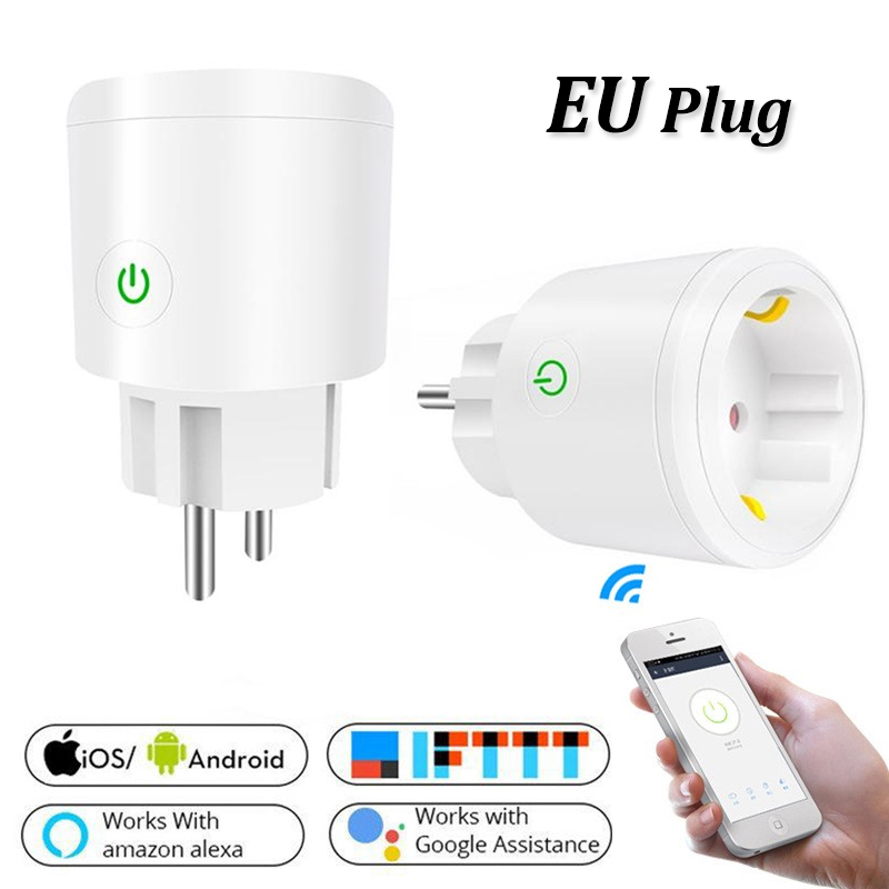ZUCZUG WIFI Wireless Remote Smart Socket For Alexa Google Home IFTTT Voice Control Power Socket Retardant PC Smart Outlet EU/US