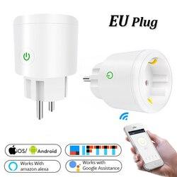Zuczug ue/eua wi fi sem fio tomada inteligente remoto para alexa google casa ifttt controle de voz tomada de energia retardador pc inteligente tomada
