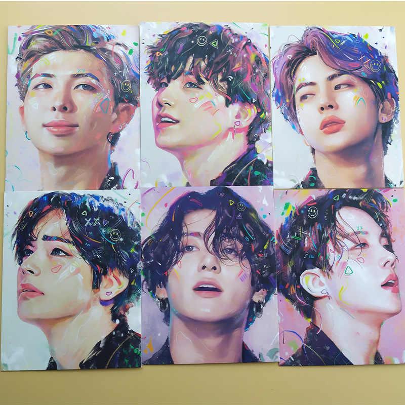 7ピース/セットkpop bangtanボーイズのアルバムマップ魂: 7コレクションカード油絵photocard lomoカード