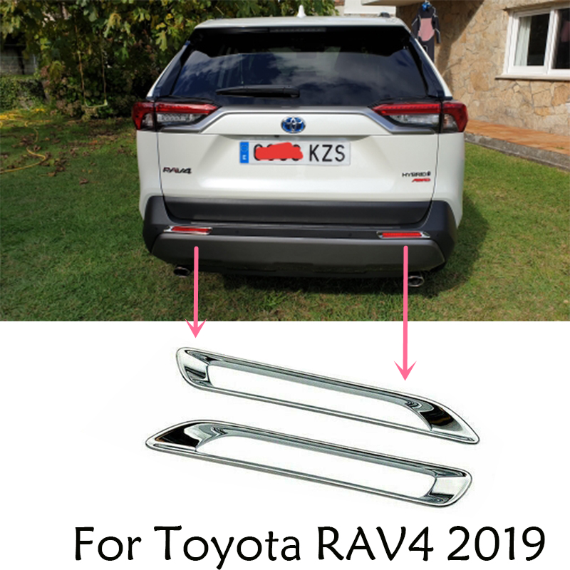 Chrome Side Door Rear Trunk Tailgate Handle Cover Trim For Toyota RAV4 06-12