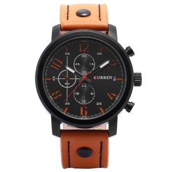 Trendy 3 Eyes Men Women Metal Case Wrist Watch Leather Strap Round Dial Casual Style Quartz Watches Best GiftN