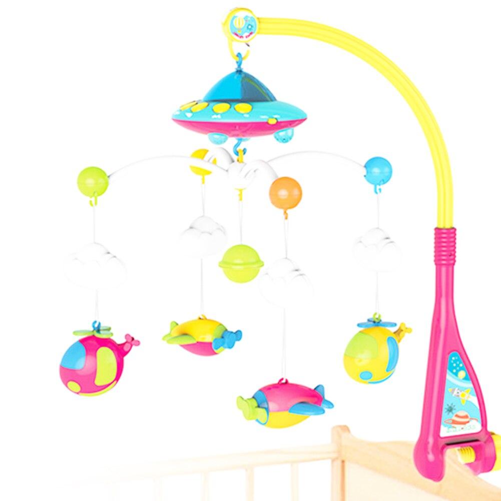 Bébé Mobile éducatif avec projecteur jouet boîte à musique maison mignon rotation infantile poussette support cloche bricolage jouet éducatif