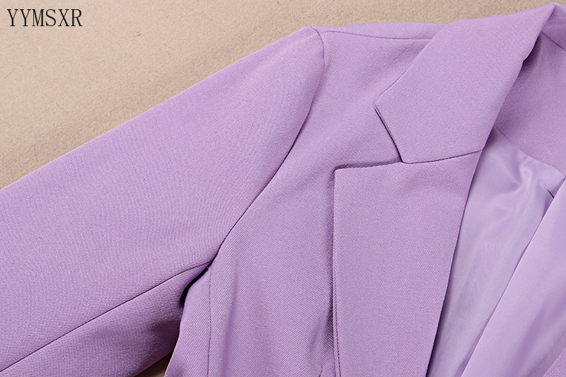 Women's business suit blazer 2020 New High Quality Casual Women's Office Jacket Fashion slim purple small suit with high quality