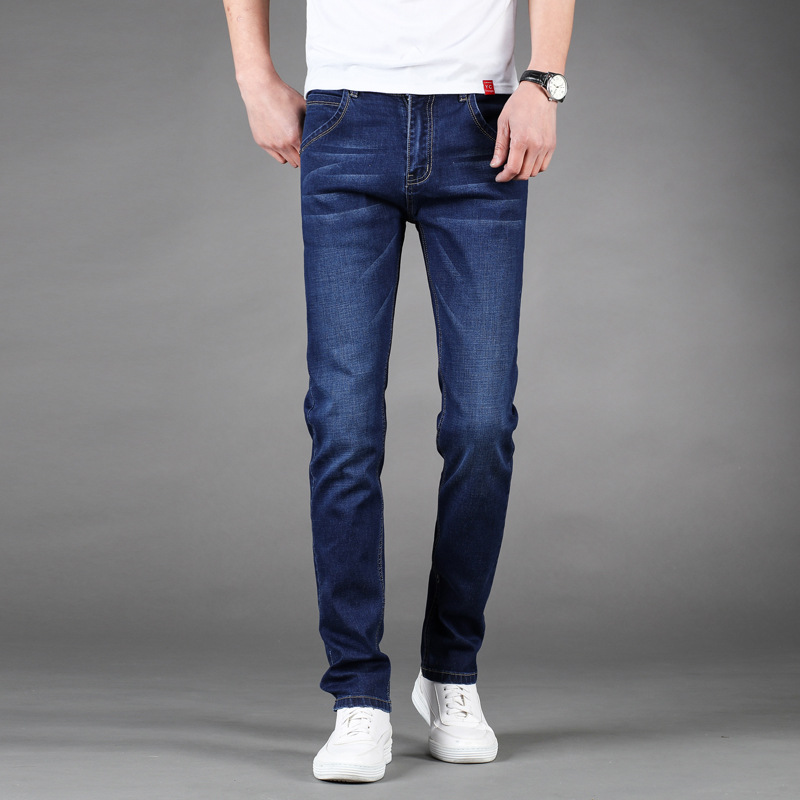 Qcc Men's Trousers Spring And Summer New Style Trend Of Fashion Elasticity Slim Fit MEN'S Trousers Youth Korean-style MEN'S Jean
