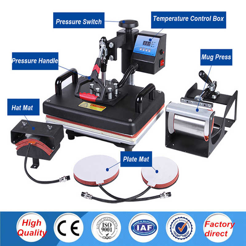 30 38cm 5 In 1 Combo Heat Press Printer Machine 2d Sublimation Vacuum Heat Press Printer For T Shirts Cap Mug Plates Machine Printer 2d Printermachine Machine Aliexpress