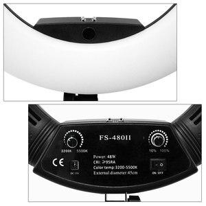 Image 5 - מקורי Yidoblo FS 480II Led טבעת אור ערכת Selfie איפור מנורת 18 אינץ צילום תאורה 48W Led וידאו סטודיו אור 5500K