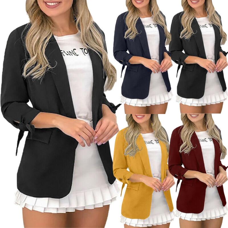New Women Girls Long Sleeve Front Zip Up Bomber jacket Classic Outwear Size8-16