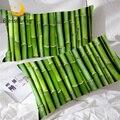Бамбуковая наволочка blesslife  зеленая наволочка из 2 частей с 3D принтом  наволочка с растительным рисунком  наволочка с природным мотивом для к...