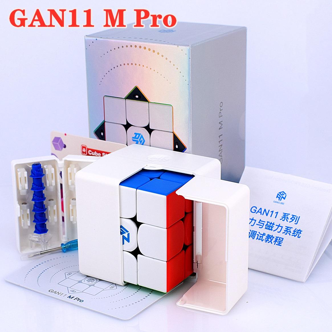 GAN11 M 프로 마그네틱 3x3x3 매직 큐브 3x3 스피드 큐브 GAN 11 M 퍼즐 큐브 GAN11M Cubo magico GAN 11 M Pro