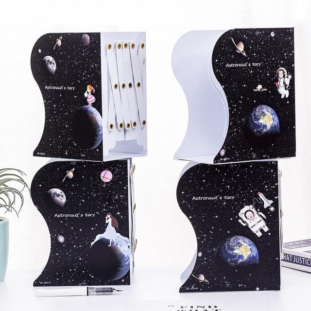Retractable Bookends Metal Desk Book Holder 10