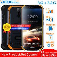 DOOGEE S40 4GNetwork прочный мобильный телефон 5,5 дюймов Дисплей 4650 мА/ч, MT6739 4 ядра, 3 Гб оперативной памяти, Оперативная память 32GB Встроенная память ...