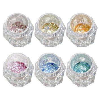15 g pudło Manicure nowy Opal proszek spolaryzowany proszek ultra-cienki cekiny brokatowy proszek śnieg aksamitny proszek DIY Spangles Paillette tanie i dobre opinie CN (pochodzenie) Nail Glitter Dropshipping