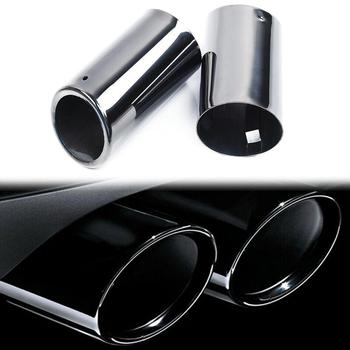 2pcs Titanium Black Muffler Exhaust Tail Pipe Tip for BMW E90 E92 325 325i 328i image