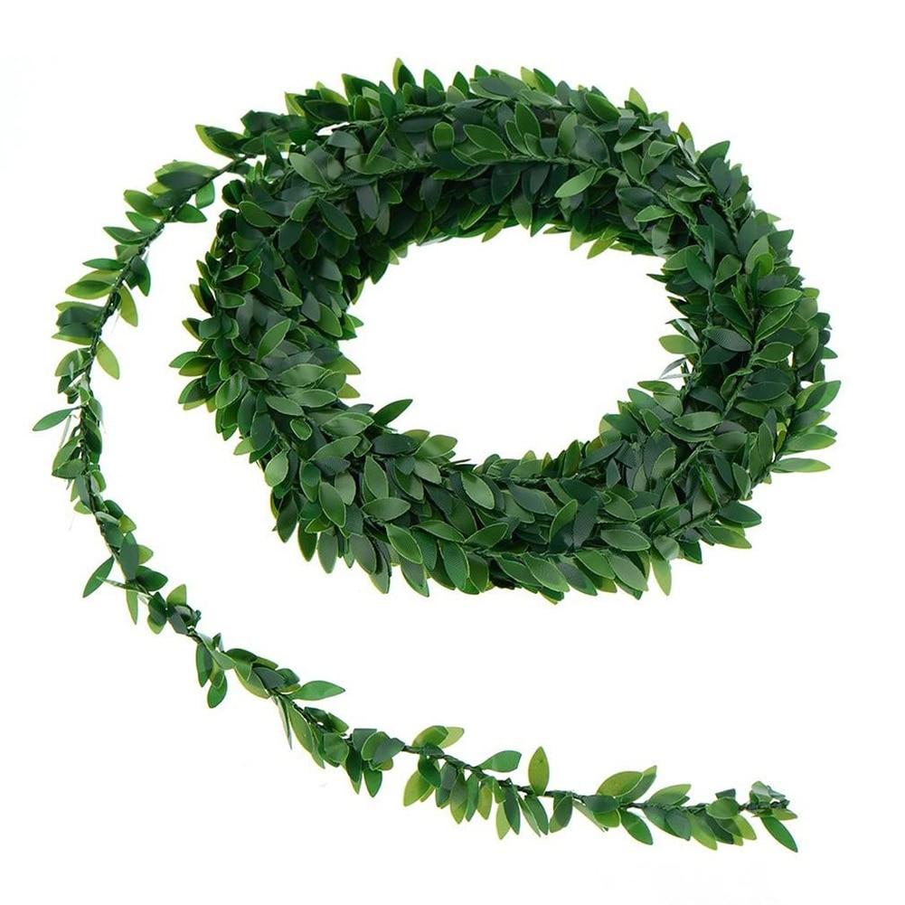 7,5 м искусственный плющ, гирлянда, листва, зеленые листья, искусственные растения, лоза для украшения свадебной вечеринки, «сделай сам», повя...