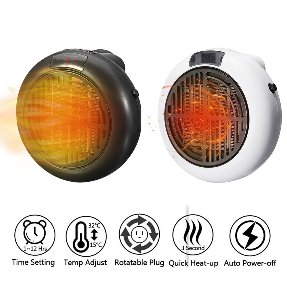 900W Mini Portable Electric Space Heater Fast Heating Air Warmer Fan for Home Office Desktop EU Plug 1