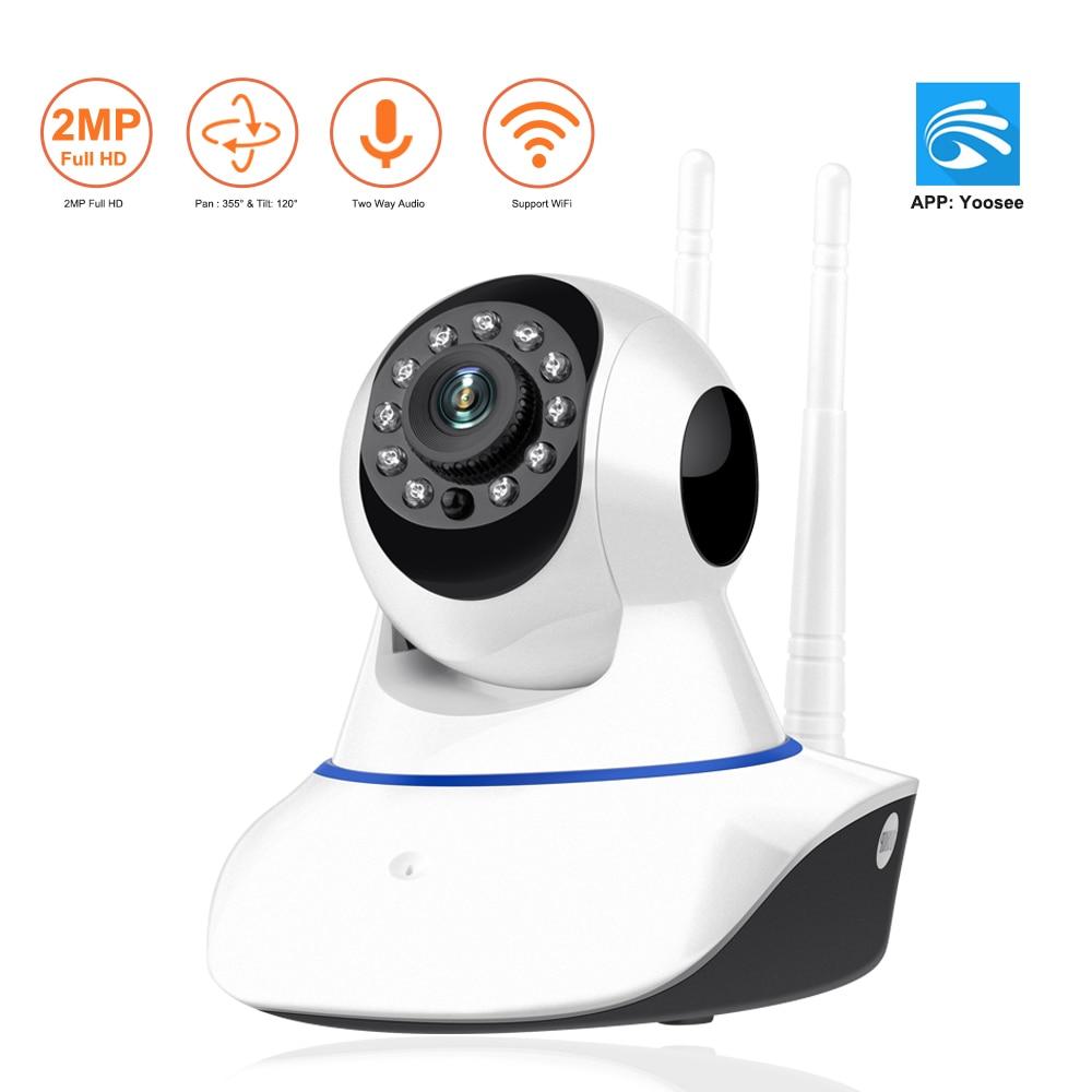 720P WIRELESS MIC PAN TILT HOME SECURITY IP CAMERA SYSTEM WIFI WEBCAM US LOCAL