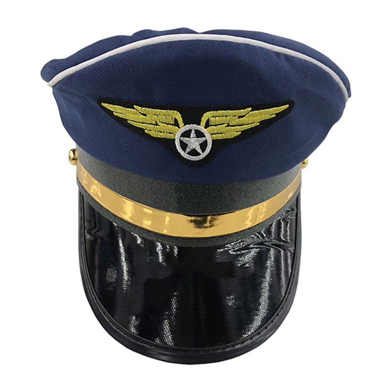 High Quality New Adjustable Sea Cap Captain's Yacht Sailors Hat Snapback Navy Costume Accessories