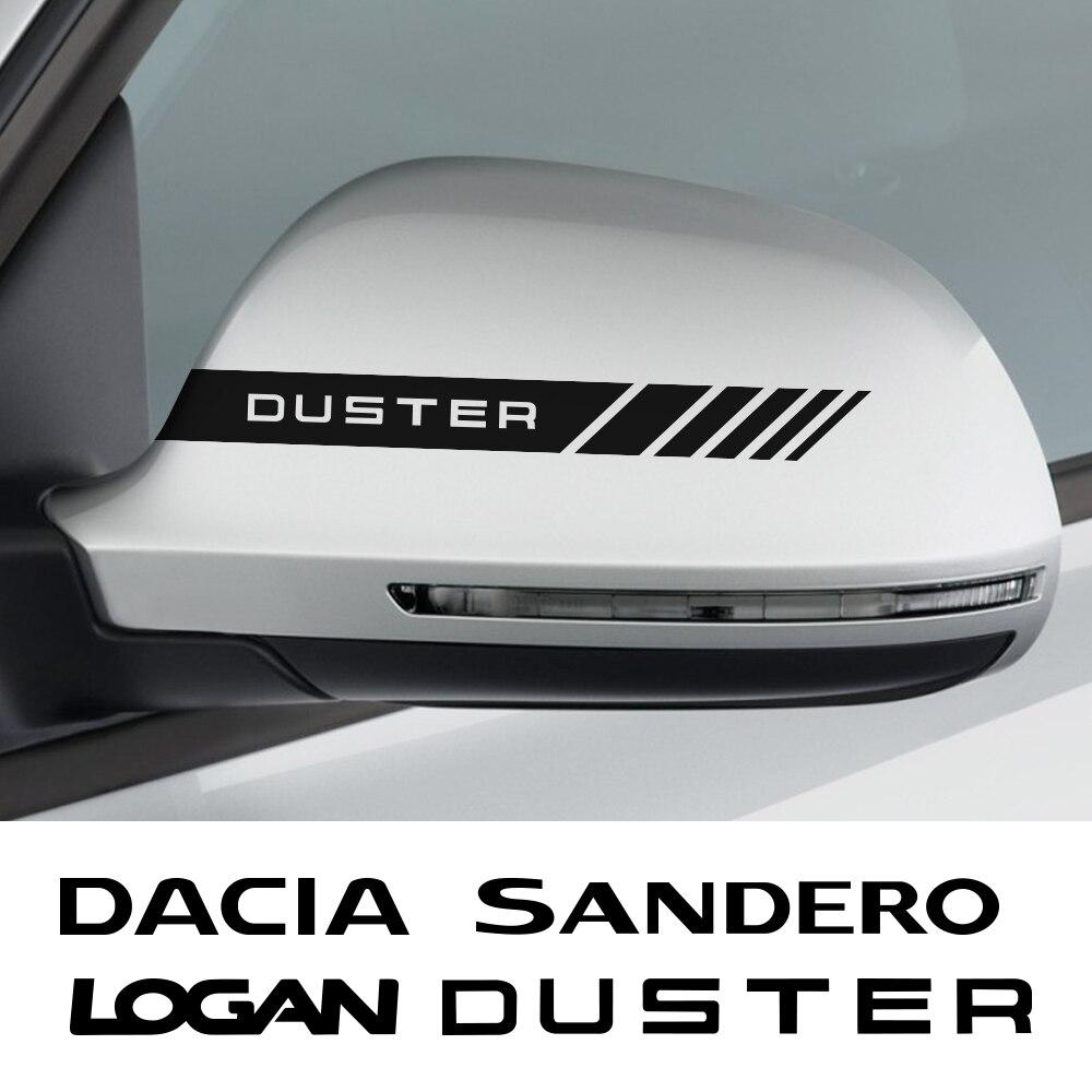 2 шт наклейки на зеркало заднего вида автомобиля для Dacia Duster 1,0 Tce Logan Sandero R4 авто аксессуары виниловой пленки углеродное волокно длинные декор...