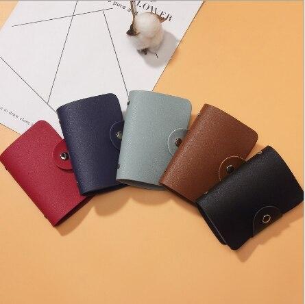 Новинка 2021 функциональный чехол из искусственной кожи с 24 отделениями для карт визитница Мужская Женская Кредитная сумка для паспорта сумк...