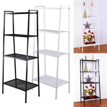 Simple Widen 4 Tiers Bookshelf Storage Ivory Modern Home Iron Furniture White/Black for books Plants Decorative Shelves