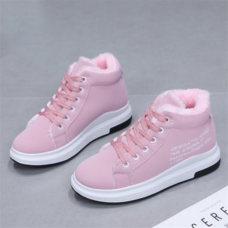 Mhysa 2019 Vulcanized Shoes New Women's Boots Winter Cotton Shoes Thick-Soled Warm Snow Women's Boots Women's Cotton Shoes L943