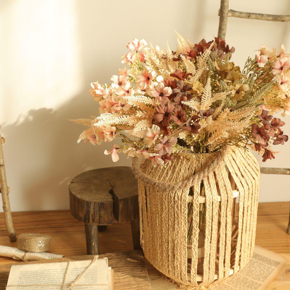 1 bouquet artificial flowers plants Christmas Acacia wedding decoration false flower home decor arrangemen wild Weeds