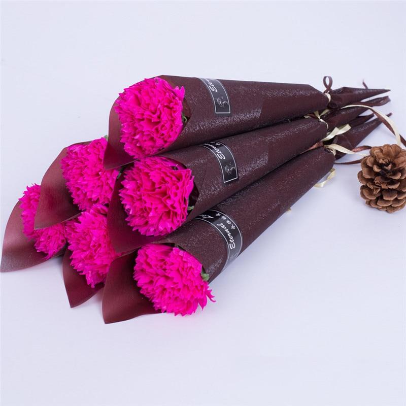 Мыло цветок розы искусственный цветок букет многоцветная Роза свадебный цветок украшение Скрапбукинг искусственный цветок Роза - Цвет: Rose red 1pc