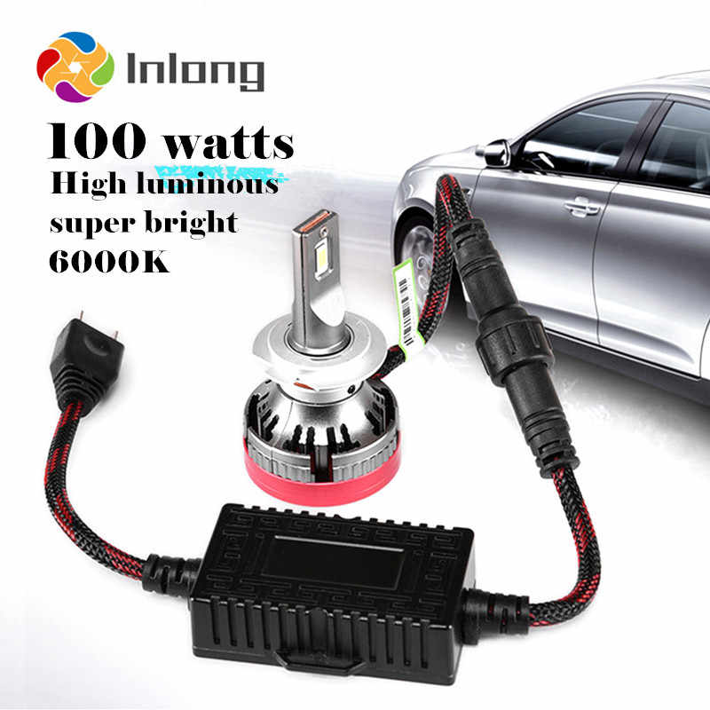 Inlong With SAMSUNG Chips H4 Led H7 Lamp 18000LM No Error Canbus H1 H8 H11 9005 HB3 9006 HB4 Car Headlight Bulb 6000K Fog Lights