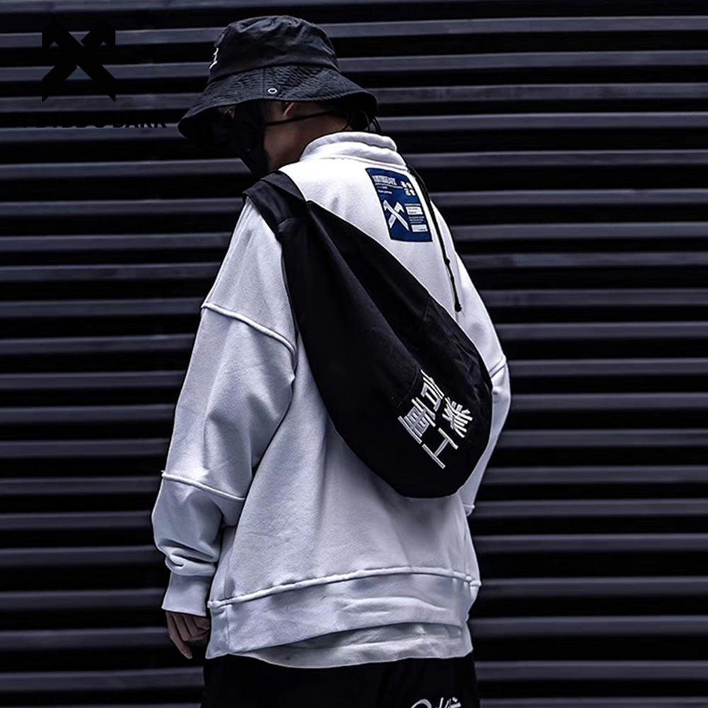 11 BYBB'S DARK Multi-function Waist Packs Men Kettle Inclined Shoulder Bag Crossbody Chest Travel Handbag Men Hip Hop Belt Bag