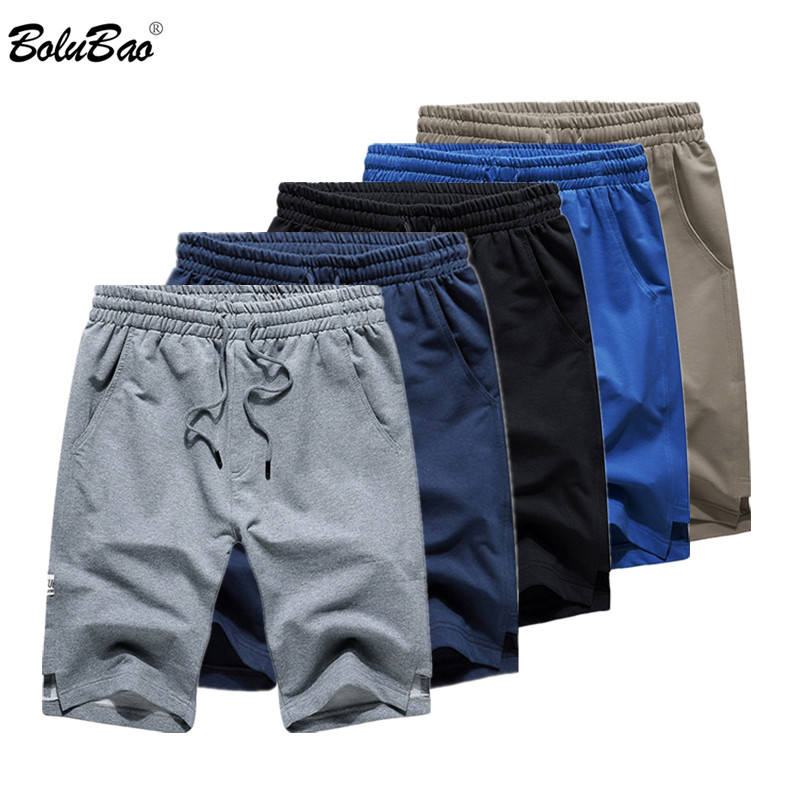 BOLUBAO Brand Men Shorts Fashion Casual Sports Shorts Drawstring Comfortable EU Size High Quality Solid Color Men's Shorts