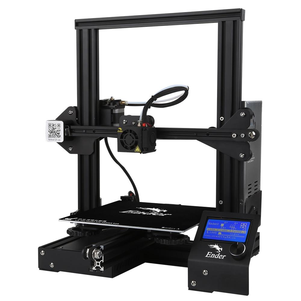 Ender-3/Ender-3 pro impressora 3d diy kit v-slot i3 fdm tecnologia mk10 extrusora 220x220x250mm tamanho impressora 3d continuação